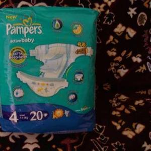 Продам подгузники Pampers Active Baby - 4,  18 штук