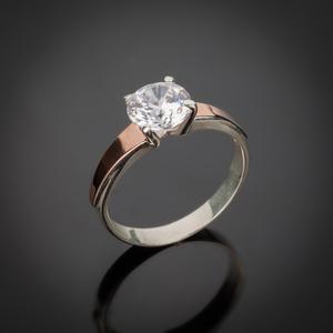 Серебряные кольца оптом. Украшения из серебра с золотом.