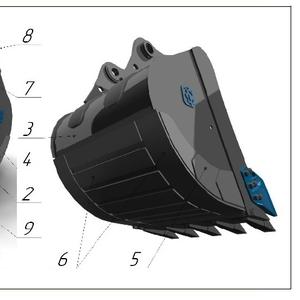 Ковш стандартный SB-2.0, 7 с бокорезами  для экскаватора